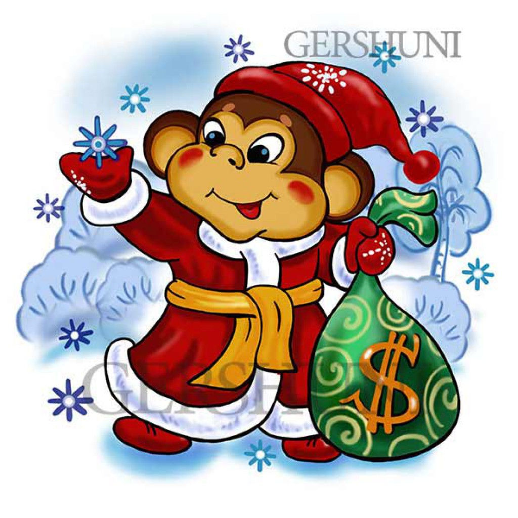 Картинка нового года обезьяна