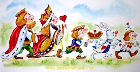 Алиса,иллюстрация,акарель