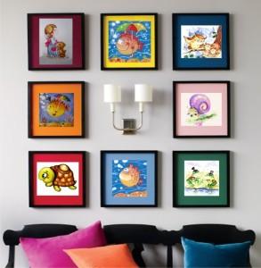 Картины на стене в детской.Разные стили.Картины под заказ.