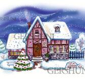 Иллюстрация —  «Уютный зимний домик»