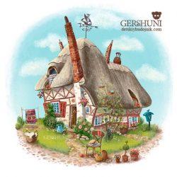 Иллюстрация летний домик Елены Гершуни