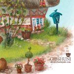 Рисунок летний домик Елены Гершуни