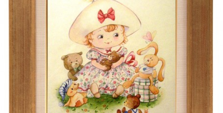 Детский портрет в «мультяшном» стиле.